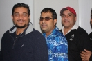 Reyaz Ali, Irshad Mohammed, and Ivor Evans during Radio S1 Dhamaka's grand launch.