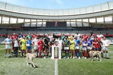 Capitans of the participating Cape Towns Sevens teams
