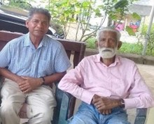 Former Nadi rep, Ganga Raju (R) with Satish Dutta