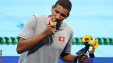 Ahmed Hafnaoui's gold is only the fifth by a Tunisian athlete at an Olympics