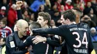Arjen Robben celebrates his goal.