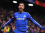 Eden Hazard celebrates his 15th goal for the season