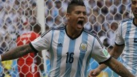Man United,s New signing Marcos Rojo.