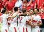 Switzerland beat 10 man Albania 1-0 at the EURO 2016. Getty.
