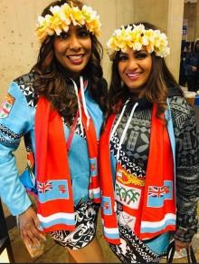 Fiji 7s costume designers, Usha Reddy and Nandani